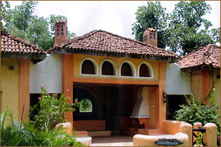 Lodge im Kanha-Nationalpark