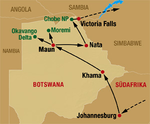 Nationalparks in Botswana