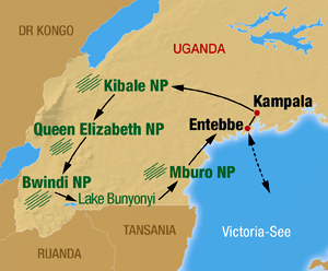 Uganda Rundreise beginnt in Entebbe